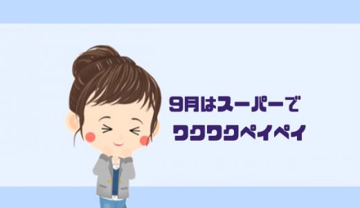 【2019年】9月のワクワクペイペイ!スーパーでお得にお買物!詳細説明!